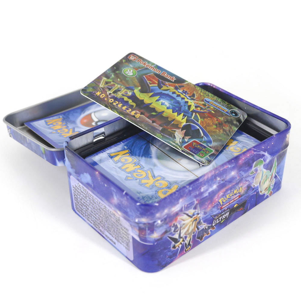 TAKARA TOMY42pcs/set Shining Pokemon VIP Cards Collections Card Bling Bling Metal Boxed Flash Card For Kids Christmas Gifts
