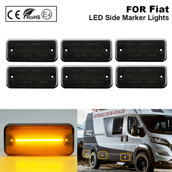 6PCS For Fiat Ducato Citroen Relay Peugeot Boxer Renault VOLVO MAN F Iveco DAF JEEP Cherokee II LED side marker lamp light Smoke autoutlet ignition steering barrel lock switch 7 pins for peugeot boxer citroen relay fiat ducato 02 06 1329316080