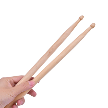 2Pcs Professional Light Weight Endearing Music Band Oval Tip Drum Sticks Percussion Instruments Parts Accessories Maple Wood image