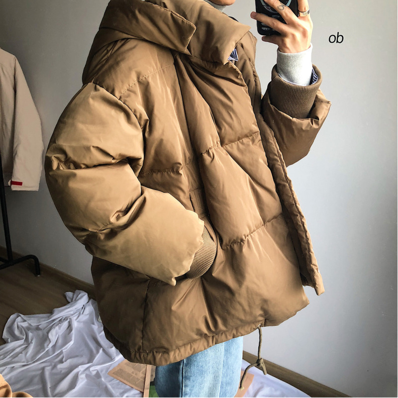 Winter Jacket Men Warm Thick Parka Men Fashion Solid Color Casual Hooded Coat Man Streetwear Loose Cotton Jacket Male Clothes