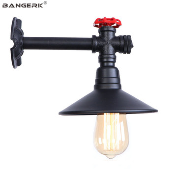 Simple Black Iron LED Wall Light Vintage Industrial Water Pipe Wall Lamp Loft Decor Edison Sconces Aisle Bedside Home Lighting
