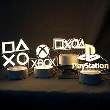 Настольная подсветка для игровой комнаты, светильник для декора, 3D Визуальный светодиодный ночник на настольную игровую консоль, контролле...