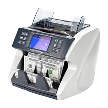 Cash Register Intelligent Bill Counter With Image Sensor Multi Currency Value Fake Money Detector Billetes Falsos Luz Uv Machine()