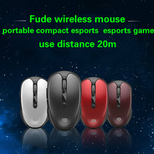 купить Fude V5 Wireless Game Optical Mouse Notebook Desktop Pc Esports Usb Girls Small Power Saving Cute Lol Cf Profession Gaming Mouse по цене 618.1 рублей