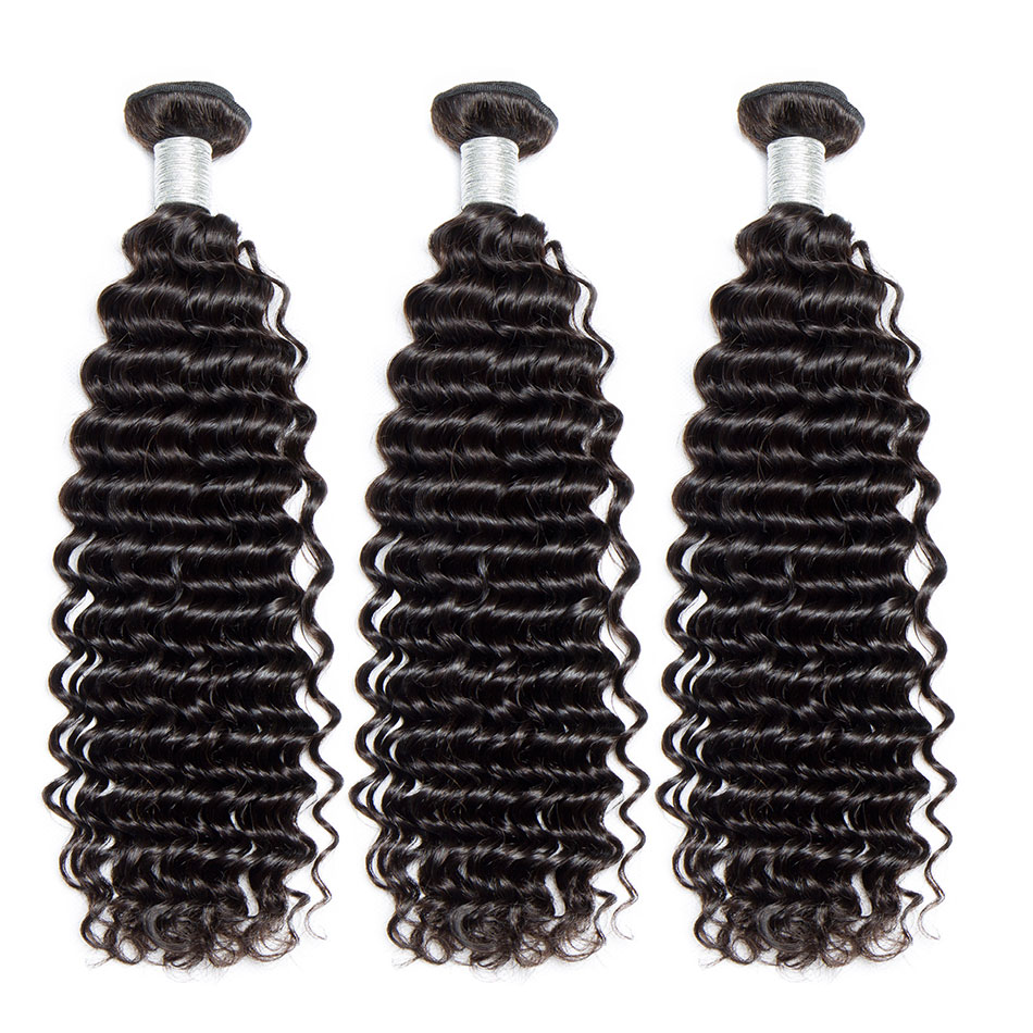 Alibele Malaysian Curly Hair 4 Bundles Deals 100 Human Hair Weaves Double Weft No Shedding Remy Hair Bundles Extensions Weft