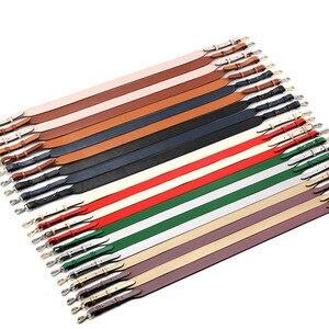 Image 4 - Genuine Leather Wide Shoulder Strap Brand Luxury Bag Strap Solid Color Adjustable Length 100cm 120cm  Women Bag Accessories