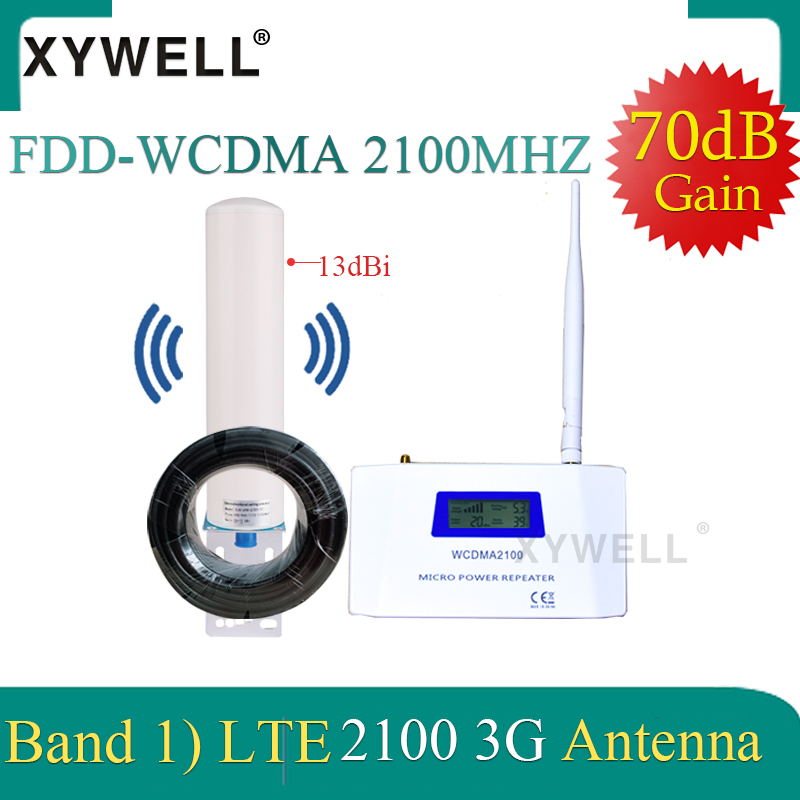 Gsm Amplifier 3G Repeater 2100Mhz Gsm Signal Booster 3G 2100 Amplifier UMTS WCDMA Band1 Mobile Phone Amplifier With 4G Antenna