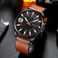 Top Marke Luxury Business Uhr Männer CURREN Uhren männer Quarz Leder Armbanduhr Luminous Hände Uhr Männlich-in Quarz-Uhren aus Uhren bei
