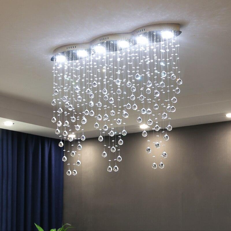 Современная Большая прямоугольная штора, волна, кристальная люстра, освещение для зала отеля, столовой, фойе, светодиодная лампа для украше