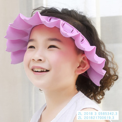 Baby Shower Cap Waterproof Earmuff Adjustable CHILDREN'S Bathing Shower Cap Kids Bath Cap Soft Silcone Shampoo Cap