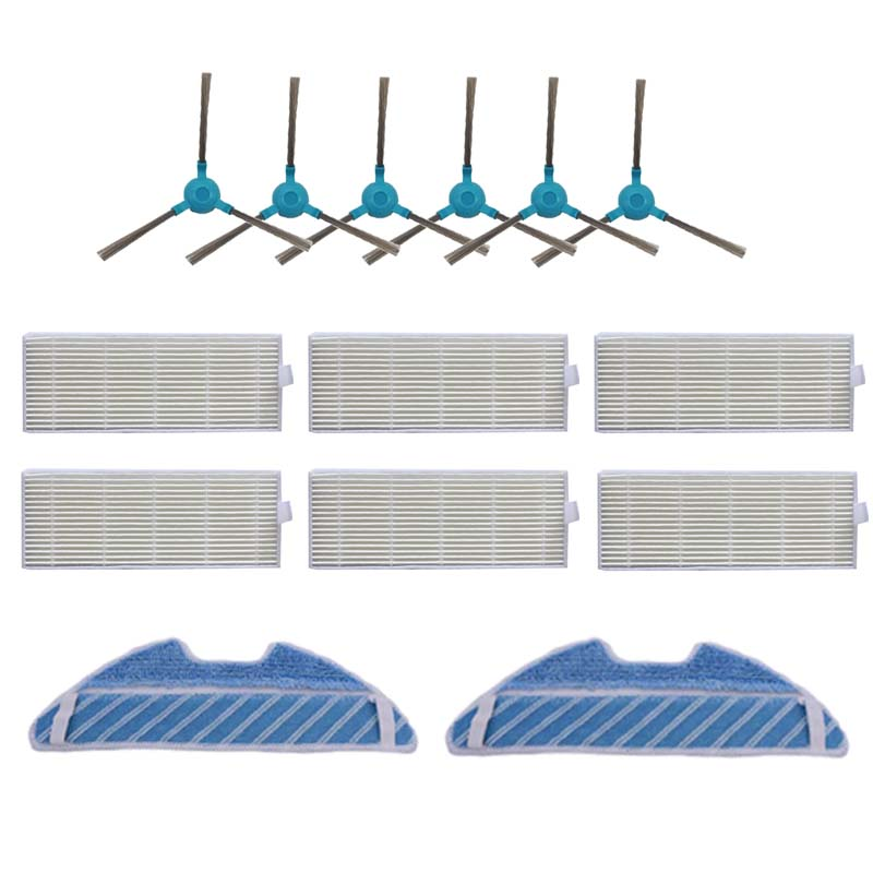 Roller Side Brush Filter Mop Cloths For Cecotec Conga 3490 Robot Vacuum Cleaner
