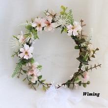 Summer Snow Grass flower Headband female hair Accessories girls Women Bride Wedding Floral Garland props