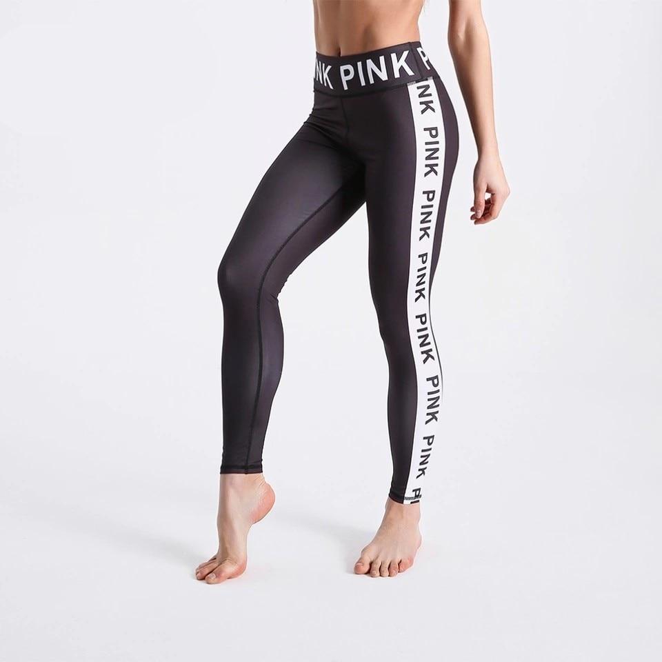 Fashion Women Black Leggings 3D Letters Printed Pants Outdoor Sports Fitness Leggings Plus Size Sports Leggings Jeggings O5A044 4