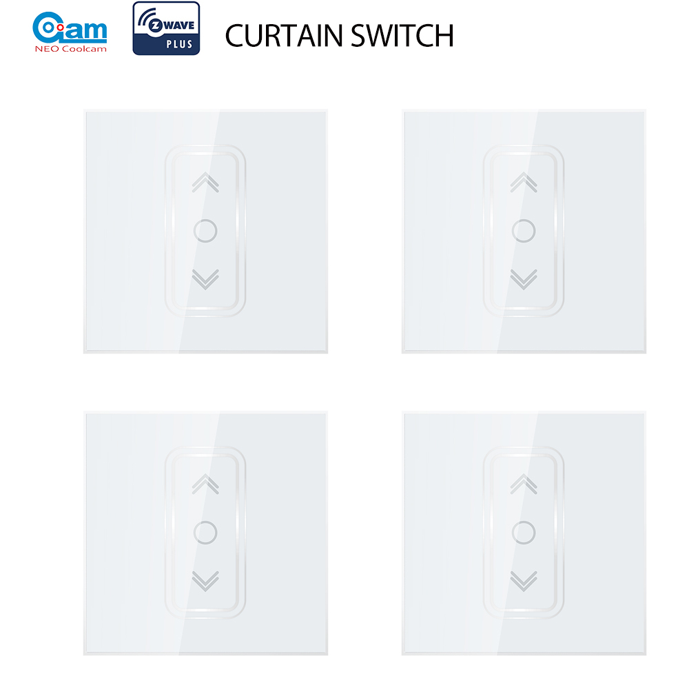 NEO Coolcam  4pcs/lot Smart Home Z Wave Plus Smart Curtain Switch For Electric Motorized Curtain Blind Roller Shutter