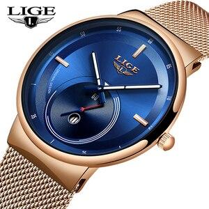 Image 2 - Relogio feminino lige 2020 novas mulheres relógios de moda azul relógio à prova dwaterproof água das senhoras de quartzo fino relojes mujer