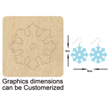 Snowflake Shape Stud or Dangler Earrings Cutting Mold Wood Dies For Leather Blade Rule Cutter DIY Cloth Paper Craft