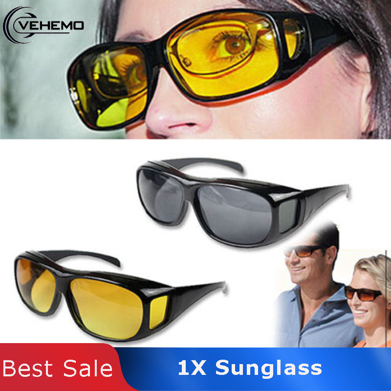 Vehemo HD Sun Glasses Yellow Lens Sunglasses Night Vision UV400 Glasses For Drivers Driving Sports