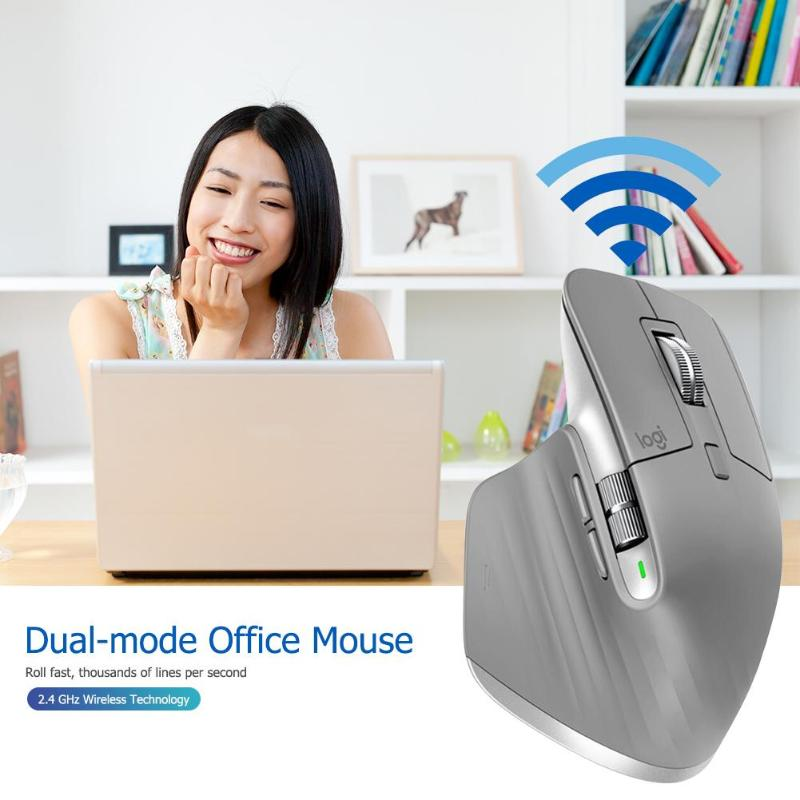 Logitech MX Master3 Wireless Bluetooth Mouse 2.4GHz 4000DPI Adjustable Dual Mode Flow Speed Mice high precision Mouse for work - 6