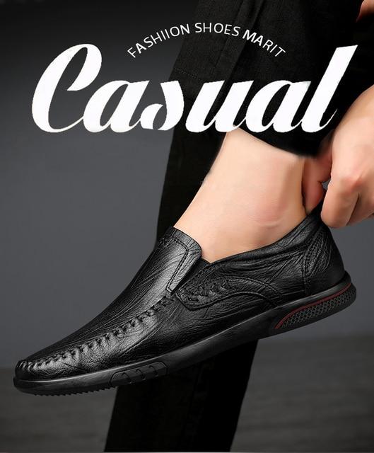 Мужские повседневные туфли из натуральной кожи удобные уличные