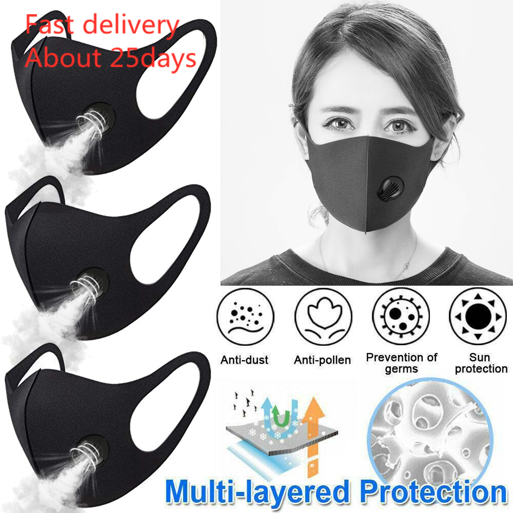 Mask Mascara 3pc Anti Smoke Dust Air Purifying Pm2.5 Face Mask Carbon Filter Multi Layer Masks