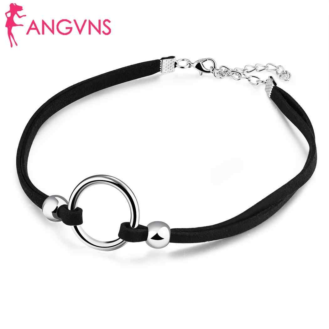 Women Casual Round Shape Choker Necklaces Clavicular Silver, Gold 6.5cm/2.6inch 30cm/11.8inch Necklaces