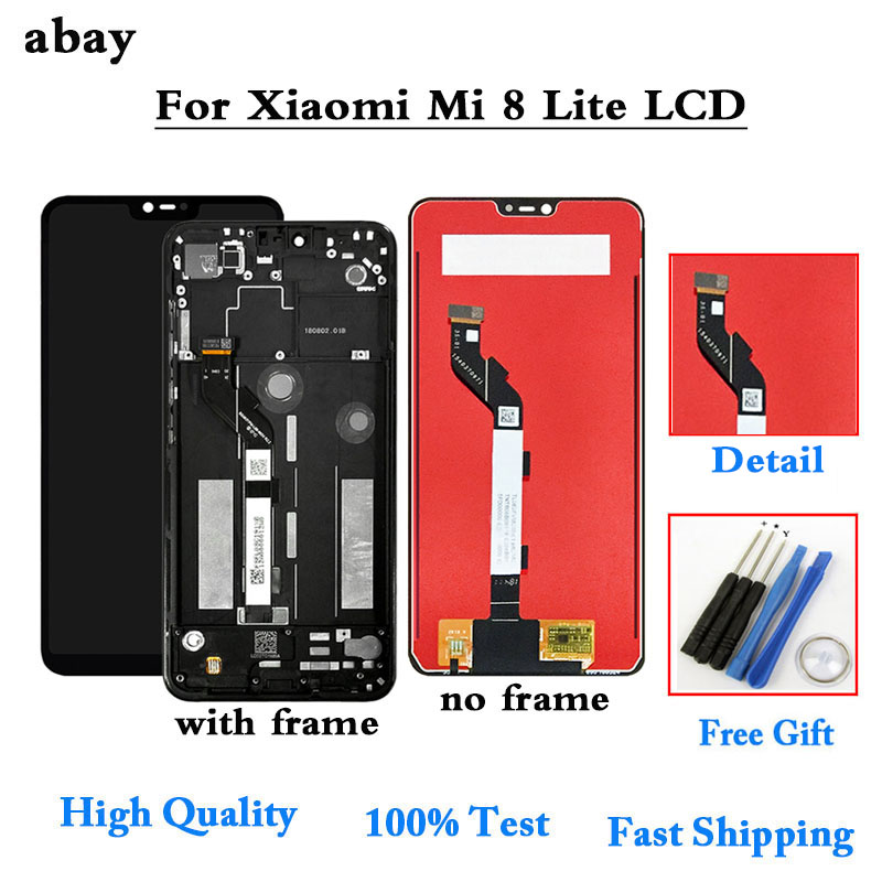 LCD for <font><b>Xiaomi</b></font> <font><b>Mi</b></font> <font><b>8</b></font> Lite/ <font><b>Mi</b></font> 8X LCD <font><b>Display</b></font> Frame Screen Touch Digitizer Assembly LCD <font><b>Display</b></font> Touch Screen Repair Parts 6.26'' image