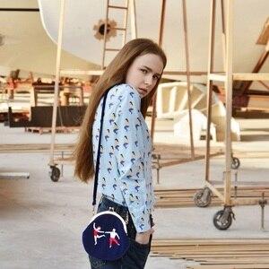 Image 2 - YIZI store women Vintage bag Velvet Embroidery Women Messenger Bags In Semi circle Round Shape Original Designed 2020 new TANTO