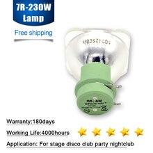 Frete grátis sharpy feixe de luz 230 w msd 7r movente cabeça lavagem ponto, estágio lâmpada 7r 230 w