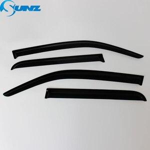 Image 5 - Czarny wiatr Visor dla HYUNDAI SANTAFE 2014 boczna szyba deflektory osłony przeciwdeszczowe dla HYUNDAI SANTA FE 2014 SUNZ
