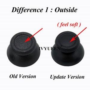 Image 2 - IVYUEEN 6 pcs Black Gray 3D Analog Joystick Caps for Sony Dualshock 4 PS4 Pro Slim Controller Thumbstick Grip Light Bar Sticker
