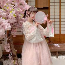 Style chinois élément chinois Lolita robe femmes Cosplay Costumes super fée automne doux collège vent robe nœud(China)