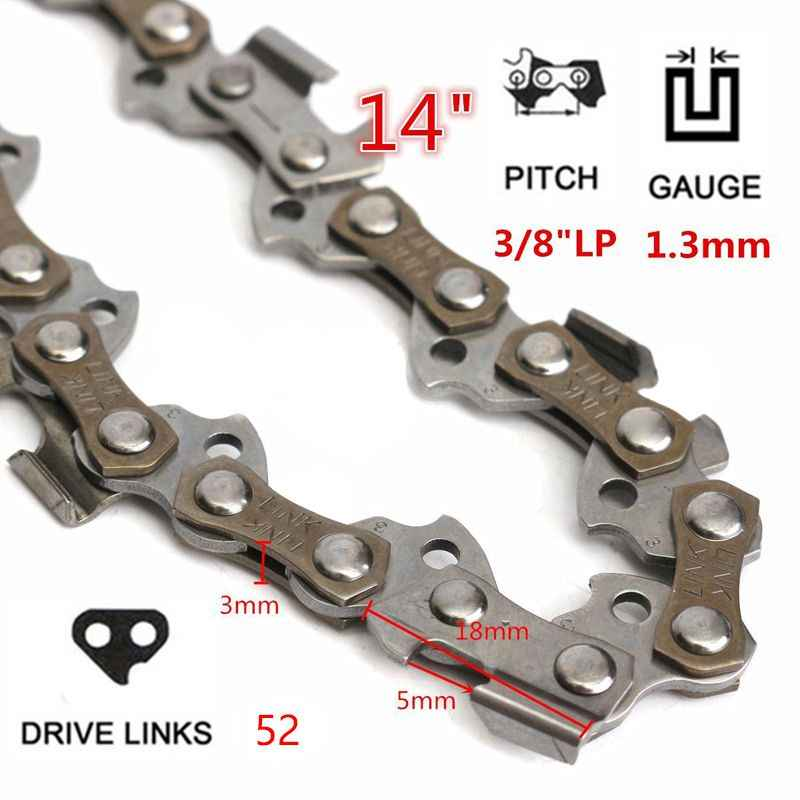 14 インチチェーンソーチェーン刃木材切断チェーンソー部品 52 駆動リンク 3/8 ピッチチェーンソーミルチェーン