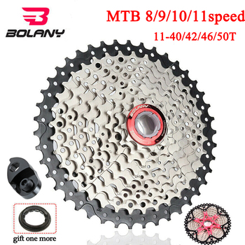 BOLANY MTB Bike 8s 9s 10s 11speed Cassette 11-40/42/46/50T Sprocket Cogs Mountain Bike Parts Fit Shimano/SRAM image