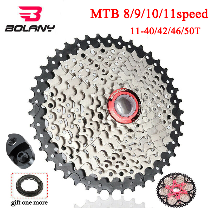 BOLANY MTB Bike 8s 9s 10s 11speed <font><b>Cassette</b></font> <font><b>11</b></font>-40/42/<font><b>46</b></font>/50T Sprocket Cogs Mountain Bike Parts Fit Shimano/SRAM image