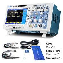 Hantek dso5102p osciloscópio digital 100mhz, 2channels 1gsa/s, tempo real, taxa de amostra, dispositivo host, conectividade 7 polegada de navio
