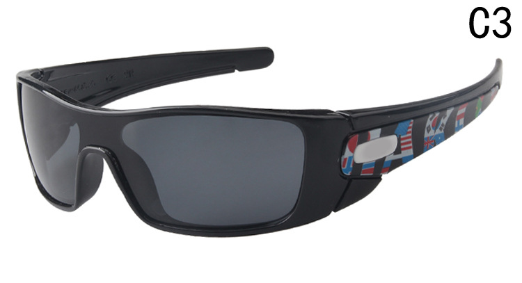 -Sun Glasses Oak Celebrity Style Riding Sports Sun Glasses Reflective Coatings Sunglasses One-piece Glasses