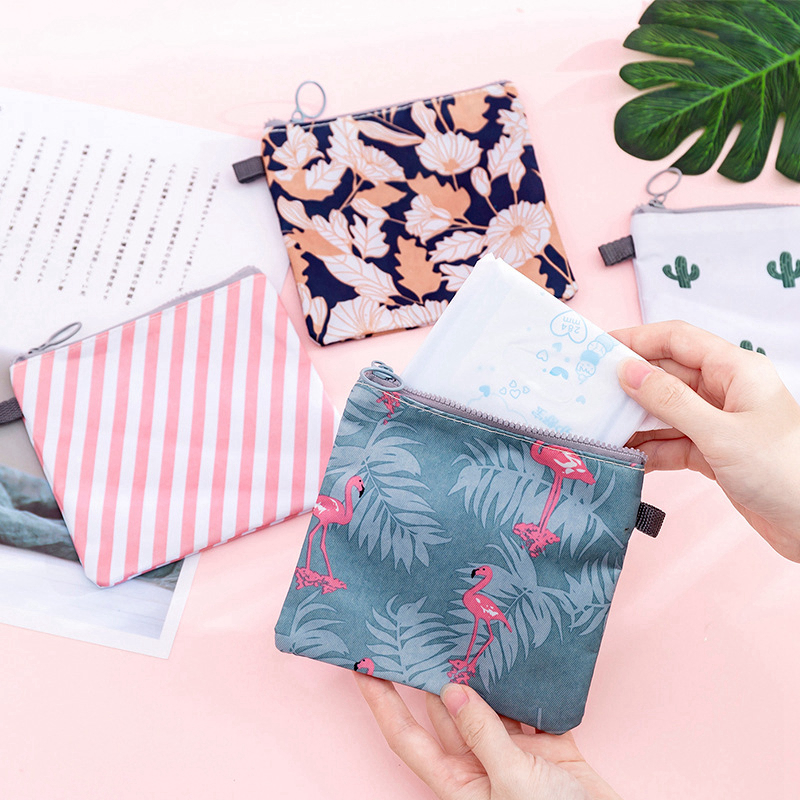 Cartoon Flamingo Makeup Case Travel Zipper Make Up Bath Organizer Storage Cosmetic Bag Pouch Toiletry Wash Beauty Women
