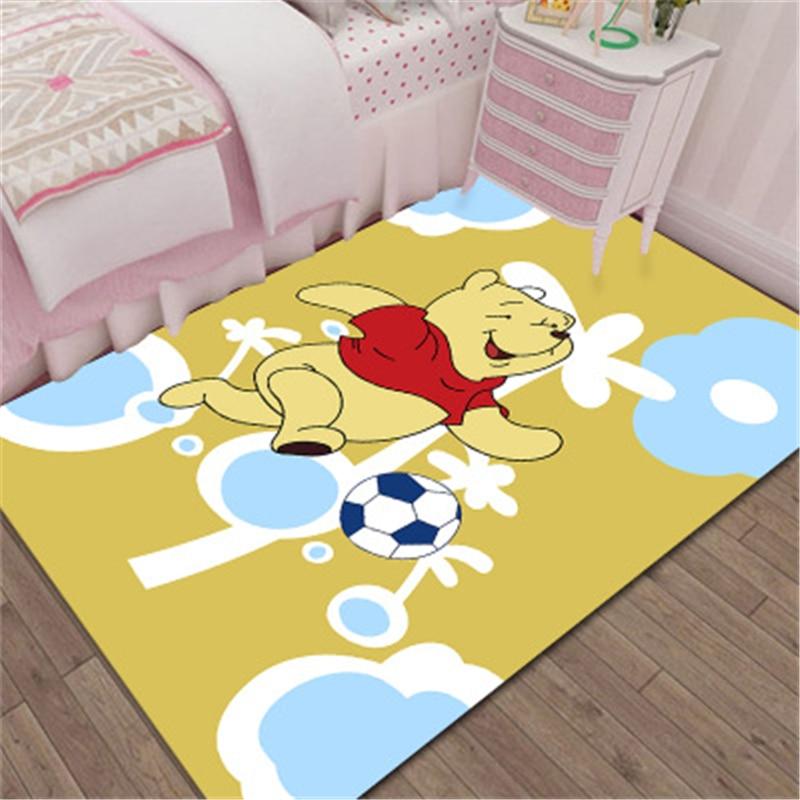 Tapis de porte de salle de bain intérieur | Disney 3D, Winnie l'ourson, tapis de jeu pour enfants, garçons et filles, tapis de cuisine pour chambre à coucher, tapis de salle de bains, cadeau d'anniversaire