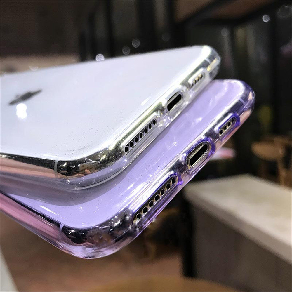 H36a16e79c97f4ad78405f9c161c2903e0 - Moskado Bling Glitter Transparent Phone Cases For iPhone 11 11Pro Max X XR XS Max 7 8 6 6s Plus Clear Solid Soft TPU Back Cover
