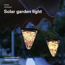 Светодиодный солнечный светильник s коническая форма наружная