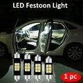 1 шт. C5W C10W светодиодный гирлянда светильник Интерьер светильник 31 мм 36 мм/39 мм/41 мм Автомобильный светодиодный 3030 SMD лампы Авто купольная лам...