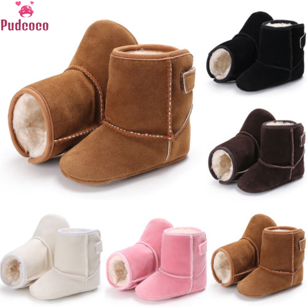 Pudcoco Brand Winter Toddler Girl Shoes Snow Boot Baby Boots Kids Boy Soft Sole Booties Infant Newborn Crib Warm Baby Girl Shoes