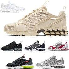 Fashion mens sneakers Spiridon Caged 2 running shoes Black Grey Metallic Silver