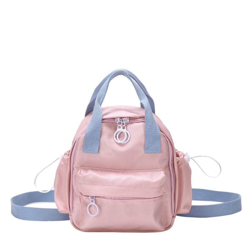 New Children Kids School Bag Casual Girls Boys Solid Color Shoulder Backpack Sweet Home Casual Bags