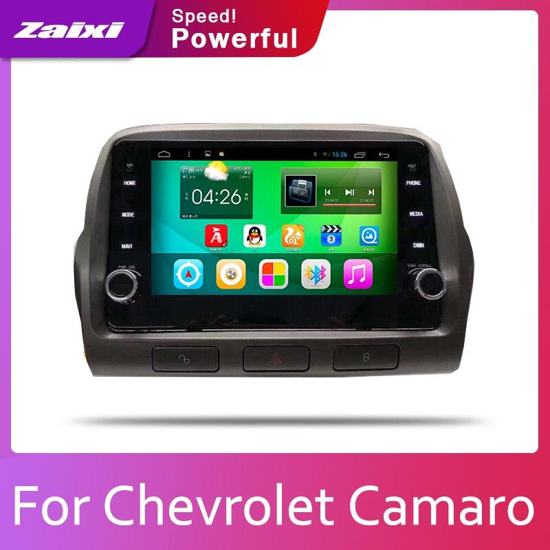 ZaiXi 2din автомобильный мультимедийный Android Авторадио автомобильный проигрыватель с радио и GPS для Chevrolet Camaro 2010 ~ 2015 Bluetooth WiFi Mirror link Navi