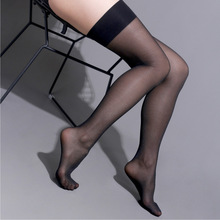 15D Unltra-thin Elastic Thigh High Stockings For Women Fashion See Through Hold Up Long