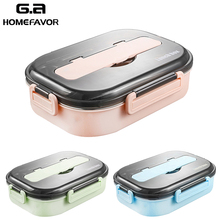 Large Lunch Box 304 Stainless Steel Food Containers Grade Bento Rice Dish Noodles Storage With Different Dividers