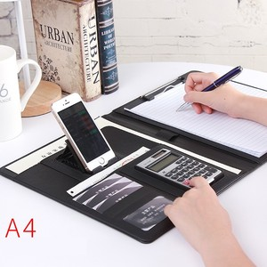 Image 1 - Uchwyt na telefon A4 Folder biznesowy menedżer kalkulator konferencyjny organizer do dokumentów układ Carpetas szkolne materiały biurowe