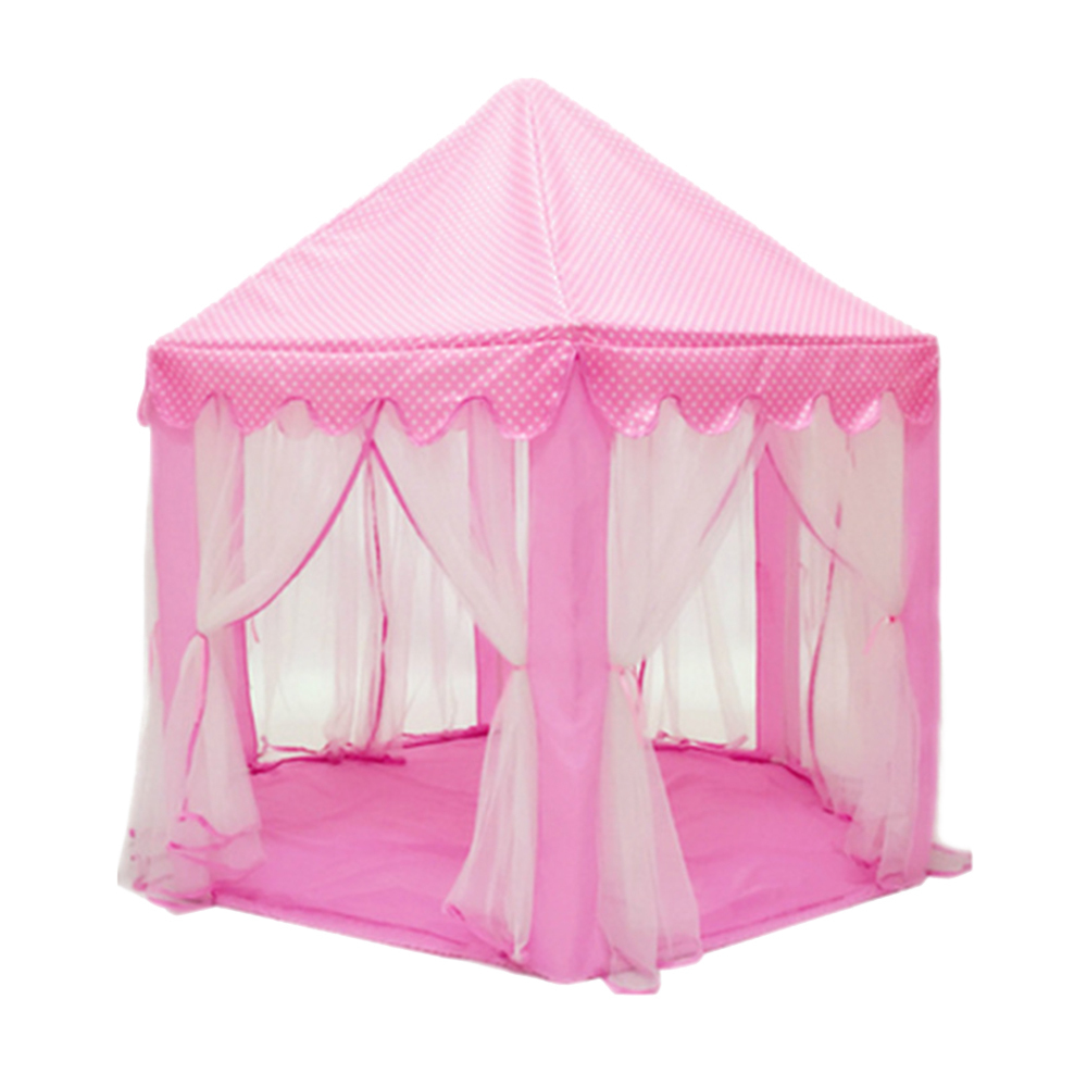 Girl Princess Castle Tents Children Folding Playhouse Lodge Kids Ball Pool
