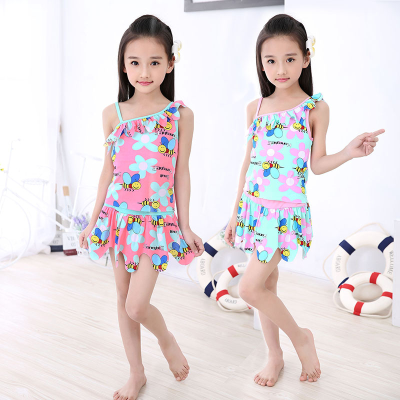 New Style KID'S Swimwear Girls Split Skirt Tour Bathing Suit Korean-style Big Boy GIRL'S CHILDREN'S Wen Quan Bao Bathing Suit
